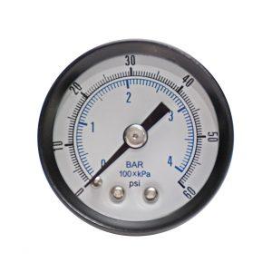 1/4″ NPT, 0-15 (0-1bar), Brass Pressure Gauge