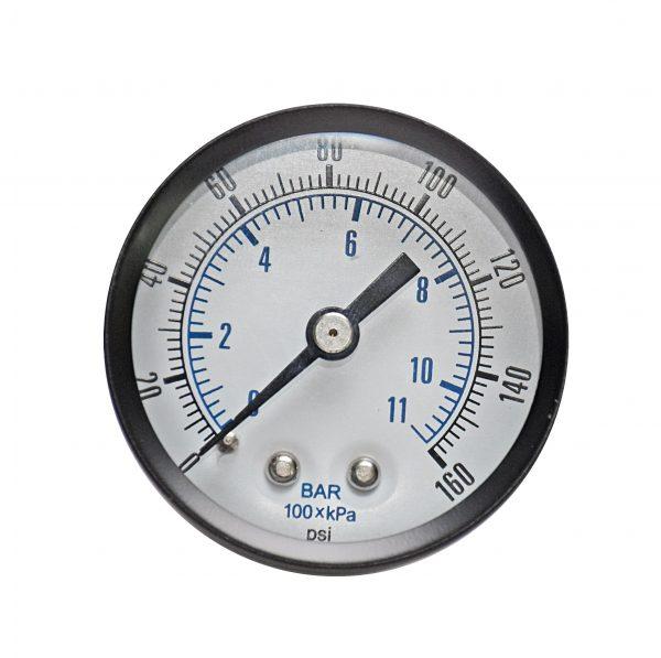 1/8″ BSP, 0-60 PSI (0-4bar), Brass Pressure Gauge