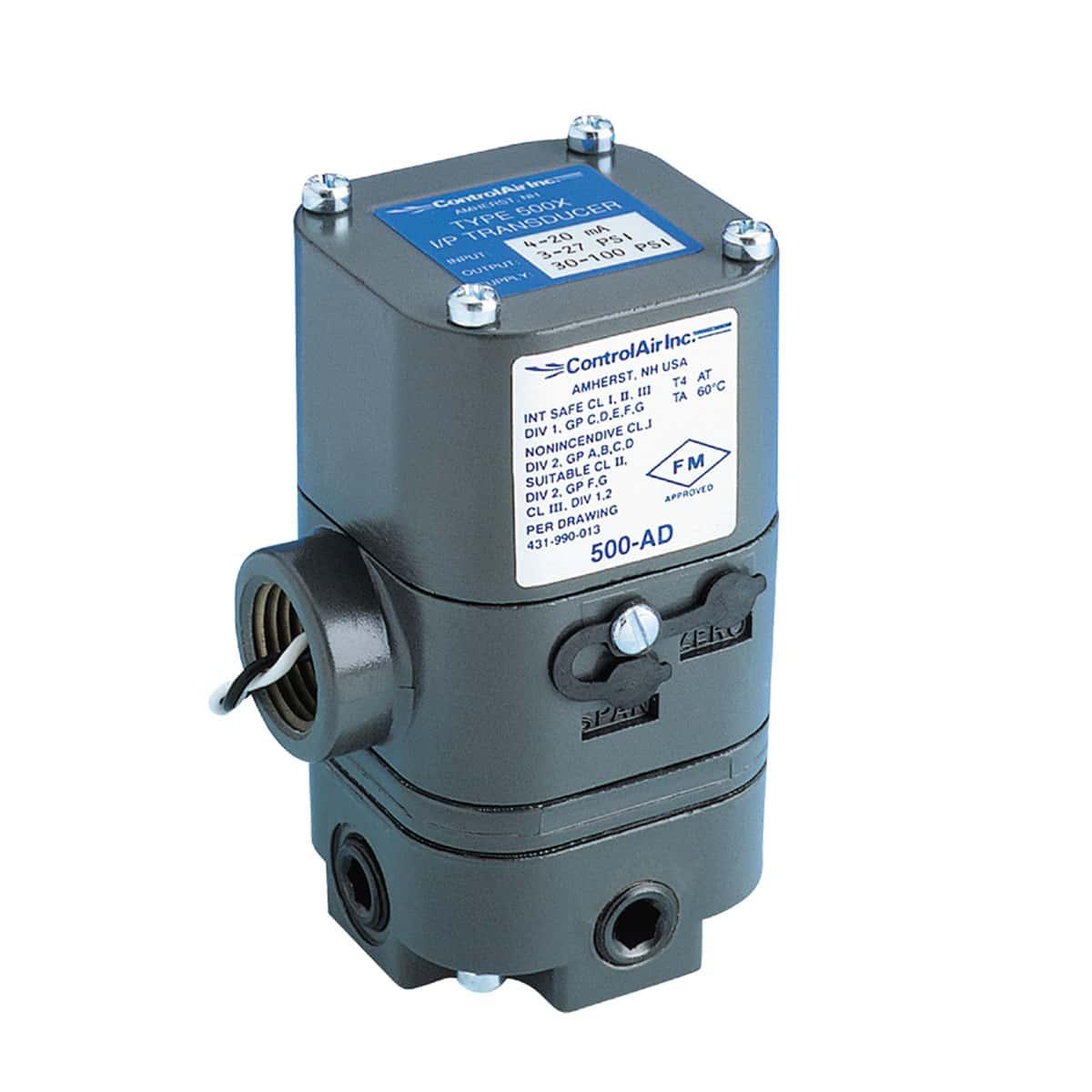 Type 500 Electro-Pneumatic I/P Transducer (I/P, E/P) - ControlAir
